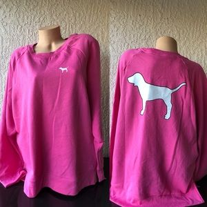 New with tag pink Victoria Secret sweater XL